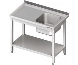Stół ze zlewem 1-komorowym 600 x 600 x 850 mm