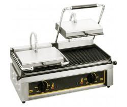 Kontakt grill podwójny, ryflowany ROLLER GRILL